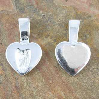 Bail Medium Heart Sterling Silver