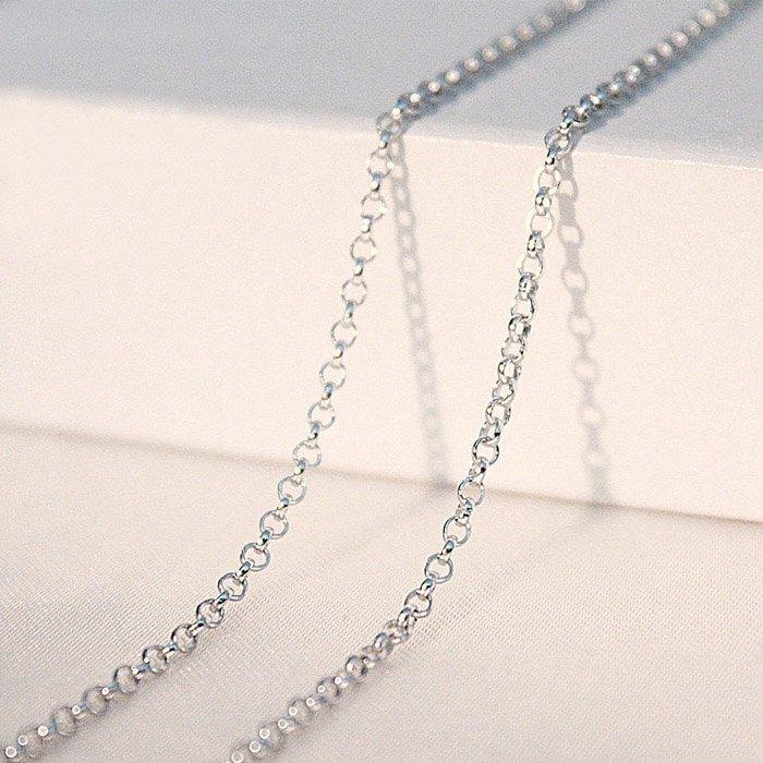 Chain Belcher Oval 80cm x 3mm Sterling Silver