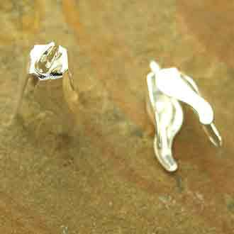 Bellcap Large 4 Prong Silver Plated