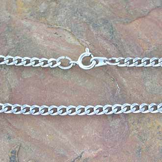 Chain Curb Link 3.5 mm x 60 cm Stainless Steel