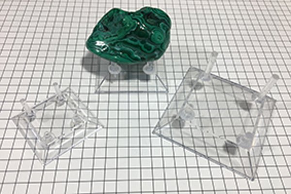 Mineral Stand Clear Set of 3 with Posts