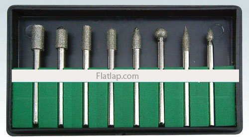 Diamond Bur Set Electroplated 2.35mm 8 Pce