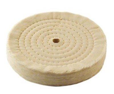 White Cotton Buff 6'' x 80 Ply