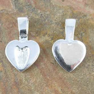 Bail Large Heart Sterling Silver