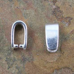 Bail Pinch Large Push Sterling Silver