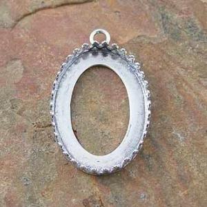 Bezel Oval Gallery 13x18mm Sterling Silver