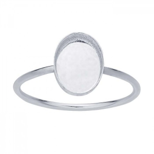 Ring Oval 8x6 mm Sz7 Sterling Silver