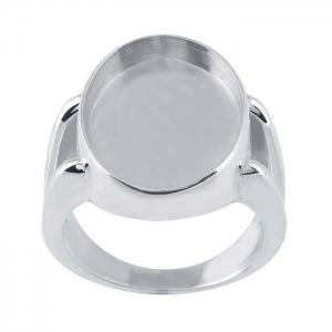 Ring Split Shank 18x13mm Oval Sz10 SS