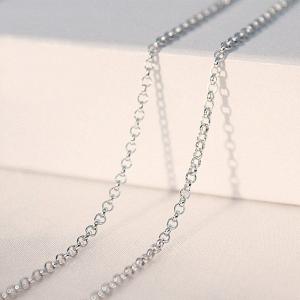Chain Belcher Oval 40cm x 1mm Sterling Silver