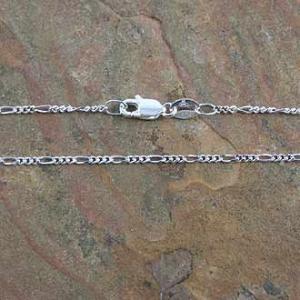 Chain Figaro 60cm x 2mm 1:3 Figaro Cut Sterling Silver