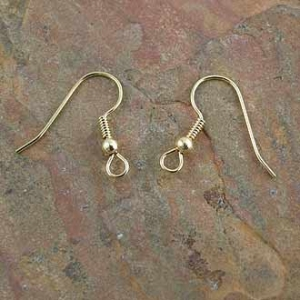 Earring Hook/Ball Gold Plated. Sold per Pair.
