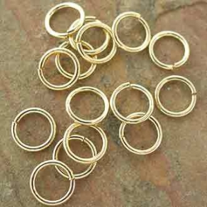 Jumpring 4mm Gold Plated 0.8mm wire