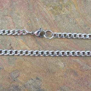 Chain Bevelled Curb 50cm x 4.5mm Stainless Steel