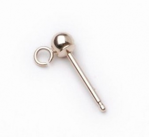 Ball Stud Hook Pct Yellow Gold 3mm. Sold as Pair.