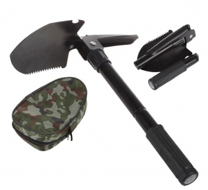 Portable Folding Shovel / Pick with Carry Pouch