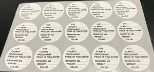 Gem Jar Label 30mm Sheet of 15