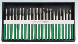 Diamond Bur Set Electroplated 2.35mm (3/32'') 20 Pce